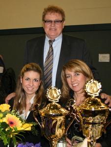 Kimberly, Herbert und Sabine nach den Ehrungen