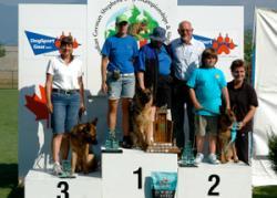 Siegerehrung Tracy Blue-Iris VA2 Siegershow Canada 2009