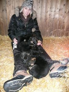 Jill mit Welpen nach Gabana & Sebastian 1 Monat alt