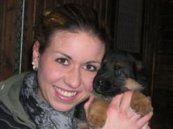Kimberly mit Welpe von Gabana & Sebastian Logoisko Trakta 1 Monat alt